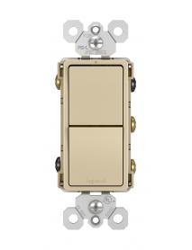 SWITCH DECORA DBL 15 AMP 120V 3 VIAS CREMA RCD33I