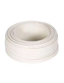 ROLLO CABLE PLASTICO FLEX.152.4M 2X14 AWG BLANCO
