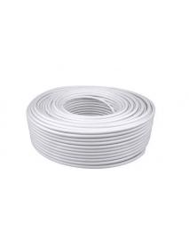 ROLLO CABLE PLASTICO SOL. 152.4M 2X14 AWG BLANCO