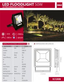 REFLECTOR LED 50W 6500K 120/277V RCA