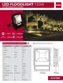 REFLECTOR LED 150W 6500K 120/277V RCA