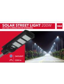 LAMPARA LED TIPO CALLE SOLAR 2200 LUMENES RCA