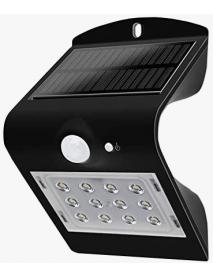 LAMP PARED SOLAR C/SENSOR MOV 220 LUMENES SYL